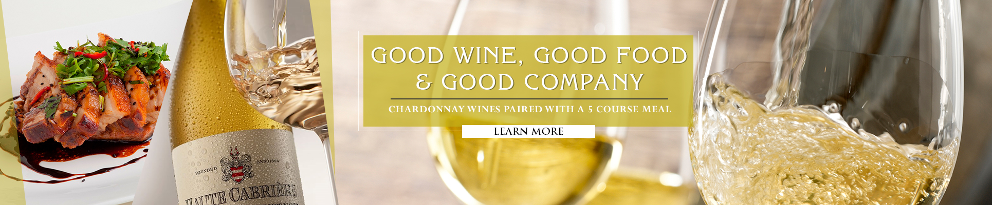 CHARDONNAY WINES PAIRED WITH A 5 COURSE MEAL AT MISTY HILLS COUNTRY HOTEL MULDERSDRIFT